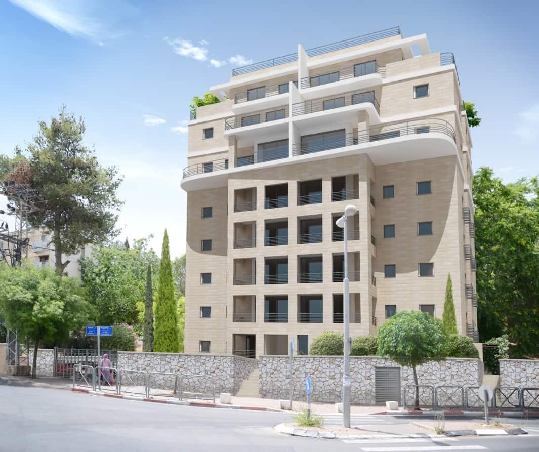 דהומיי 2, ירושלים - הדמיה לאחר יישום פרויקט תמא 38