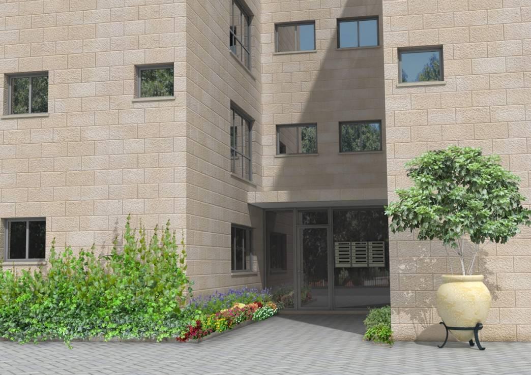 דידס 6, ירושלים - הדמיית כניסת הבניין אחרי פרויקט תמא 38