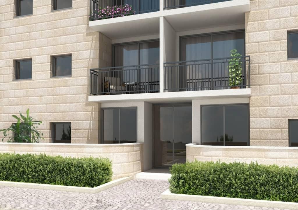 דהומיי 10, ירושלים - הדמית הכניסה לבניין אחרי יישום פרויקט תמא 38