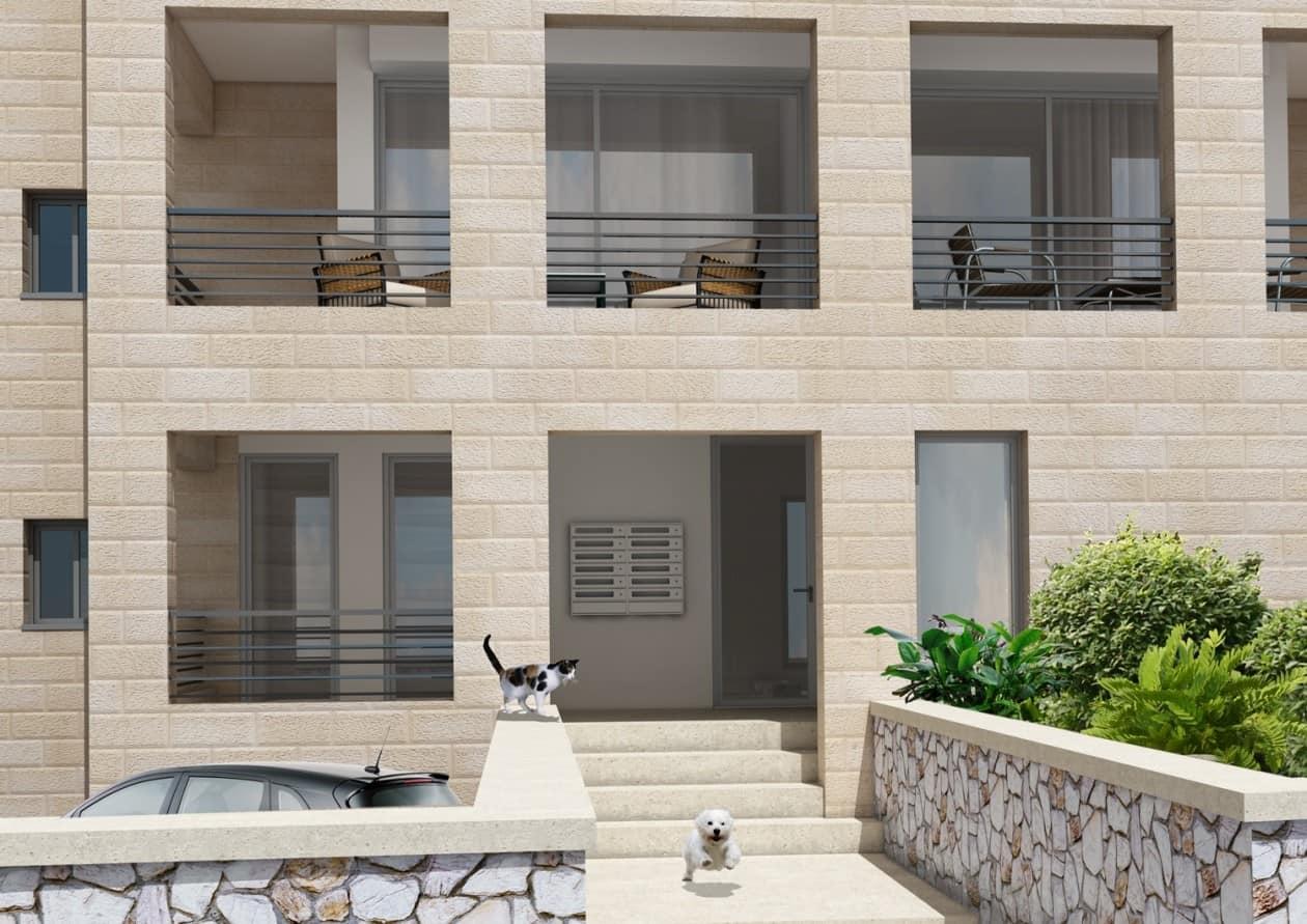 דהומיי 2, ירושלים - הדמית הכניסה לבניין לאחר יישום פרויקט תמא 38