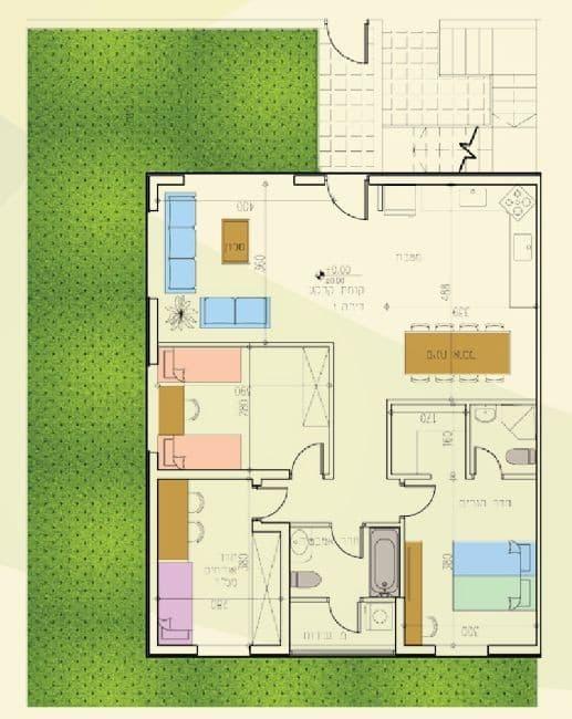 Aluma Verte – Plan d'appartement typique