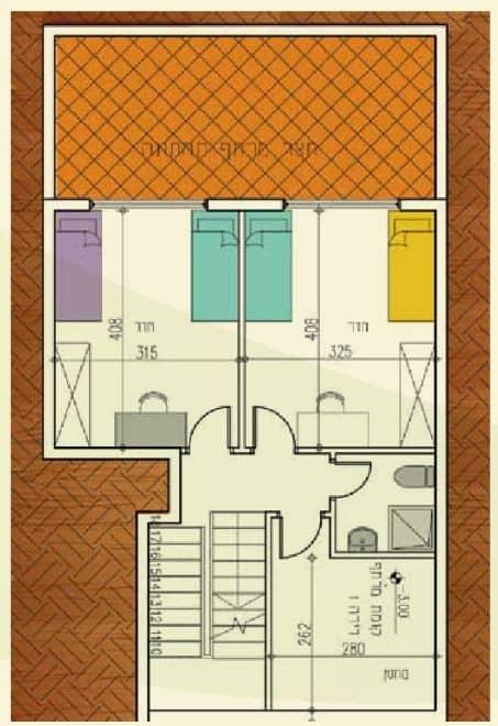 אלומה הירוקה - תוכנית דירת קומת מרתף
