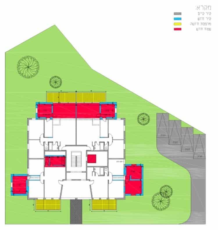אלעזר המודעי 4, ירושלים - תוכנית קומה טיפוסית