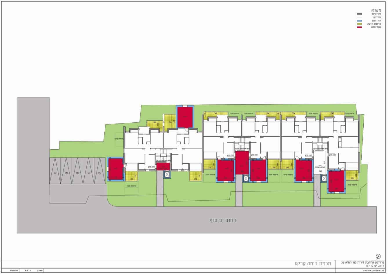 Yam suf, Jerusalem – Ground floor plan