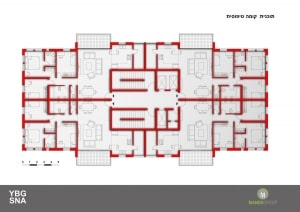 Pinui Binui in Jerusalem - Brazil, Kiryat Ha'Yovel - Typical floor plan