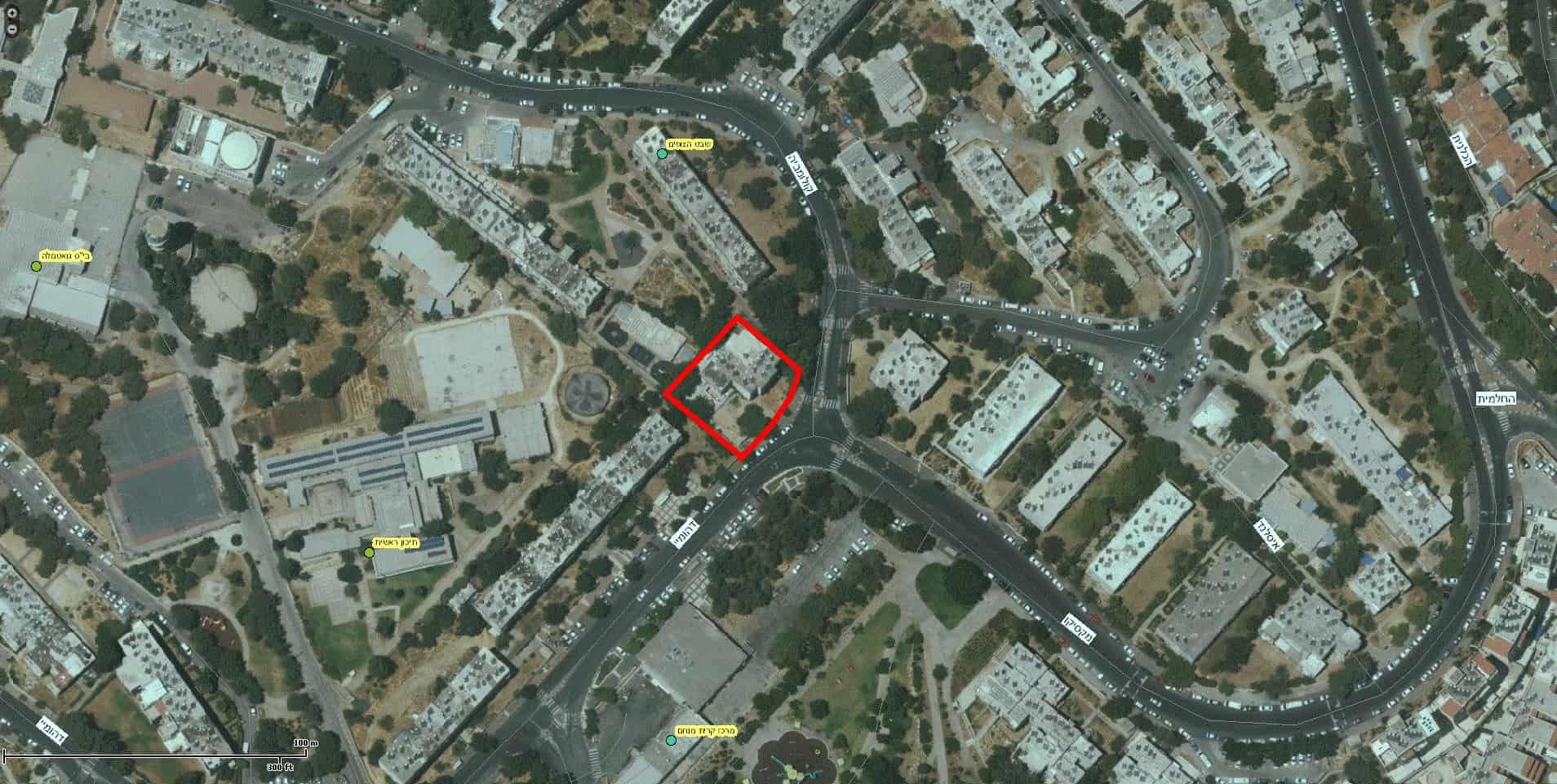 TAMA 38 project in Jerusalem – Dehomey 2 - GIS