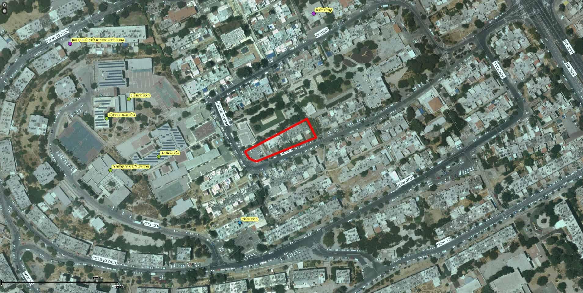 HaShomer 10, Jerusalem – GIS