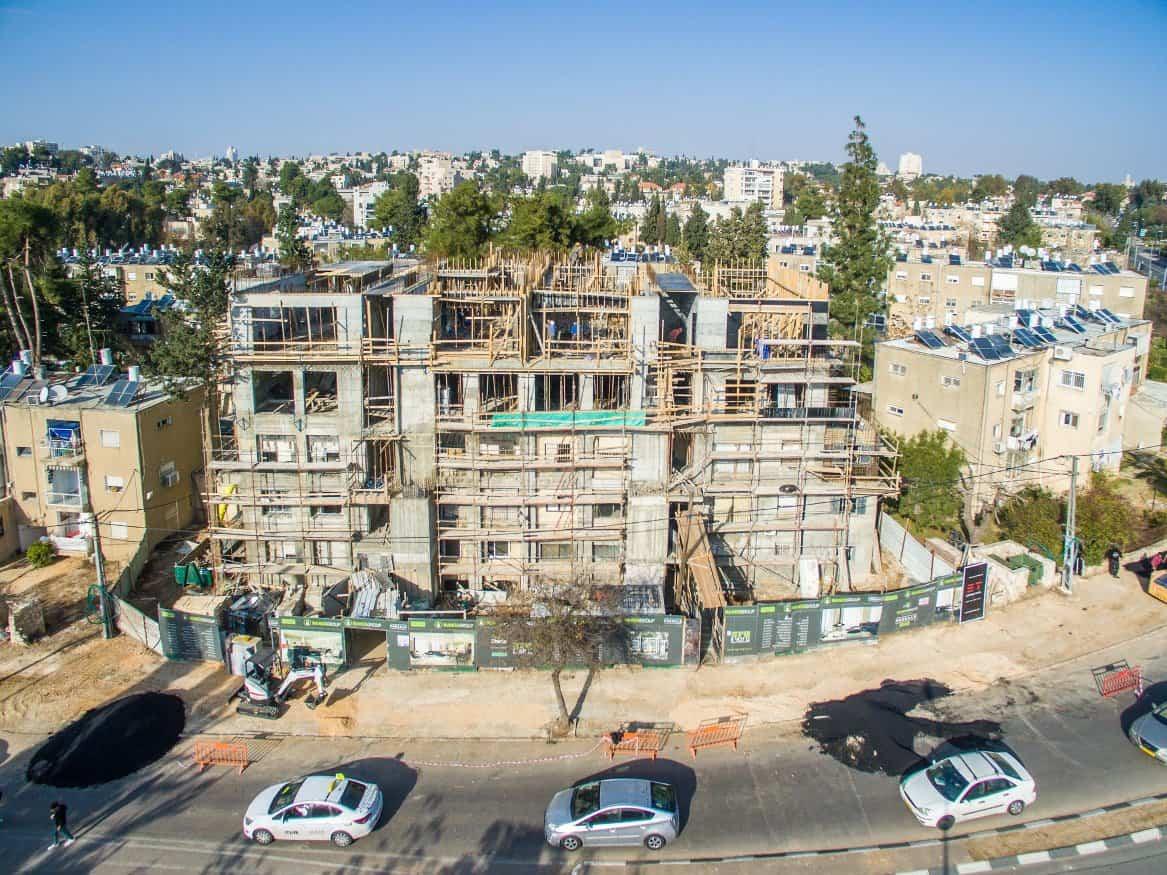 """פרויקט תמ""""א 38 בן זכאי 6 בירושלים – בשלבי עבודה"""