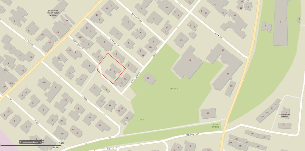 דידס 6, ירושלים – מפה