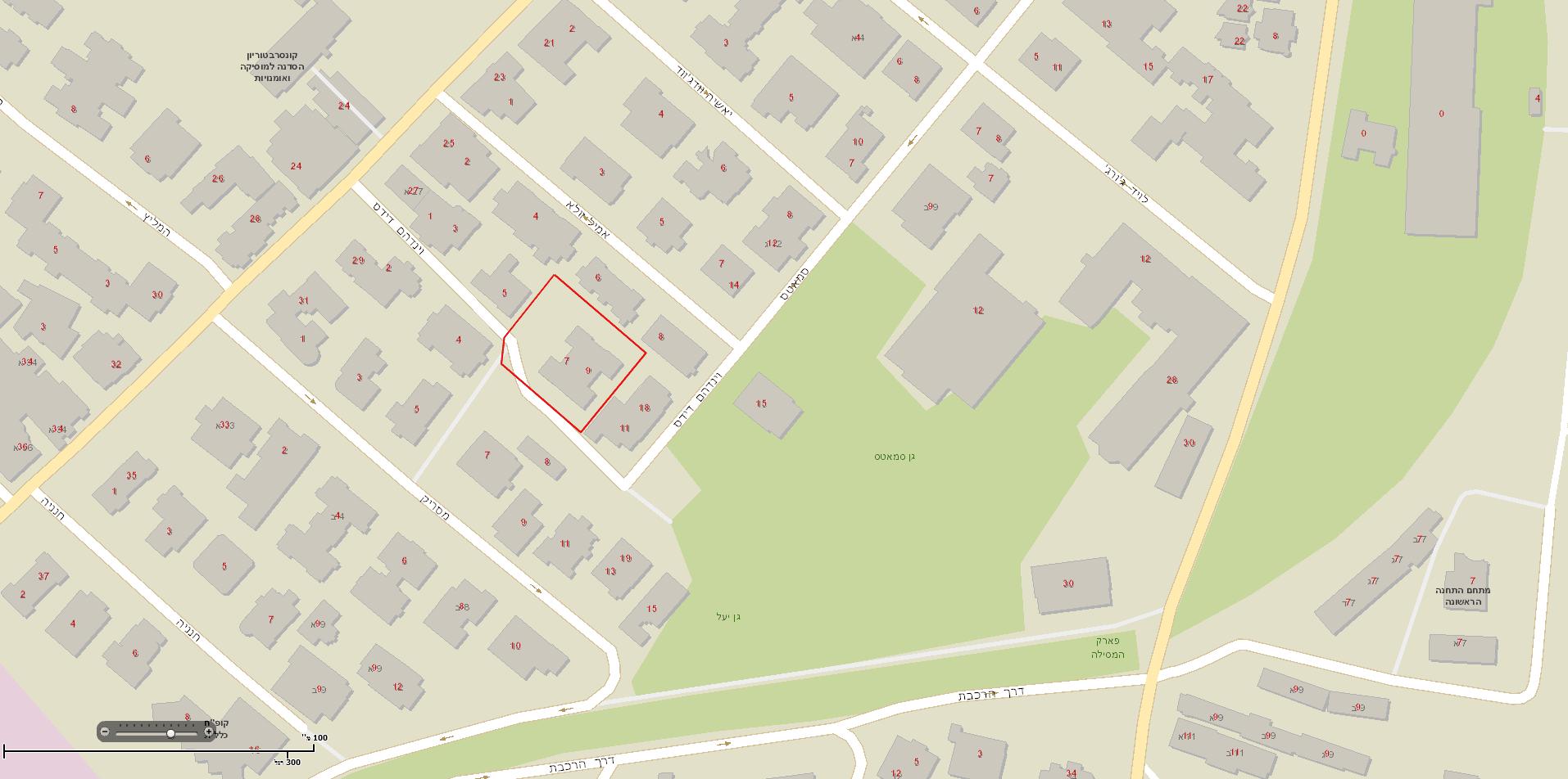 Dids 6, Jerusalem – Map