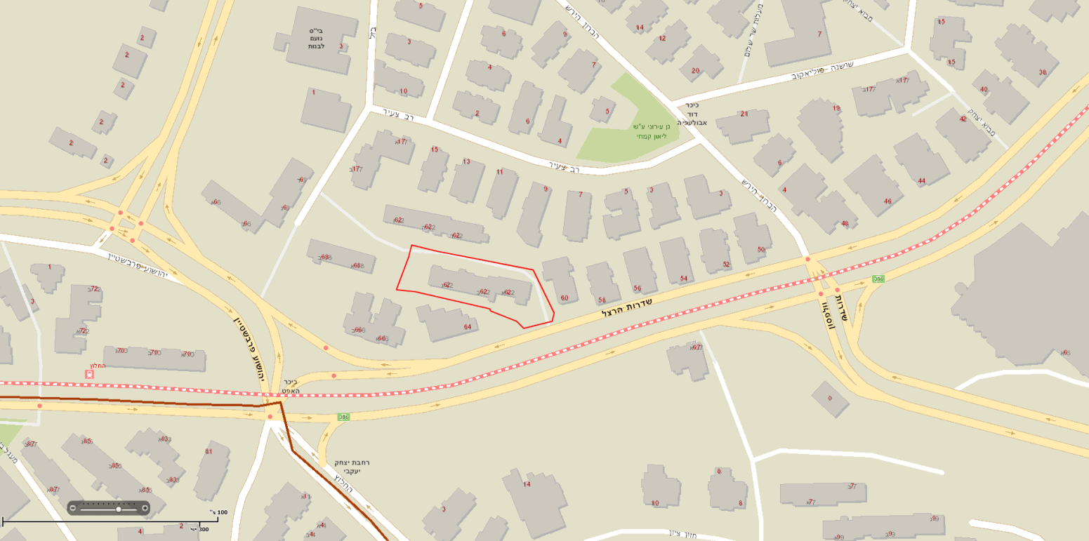 Herzl 62 – Map