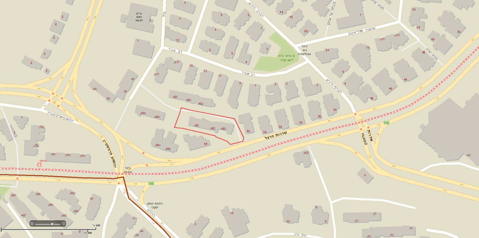 Herzl 62, Jérusalem – Map
