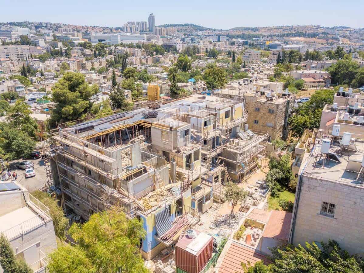 Aba Khilkiya 5, Jerusalem - Tama 38 project - Construction works