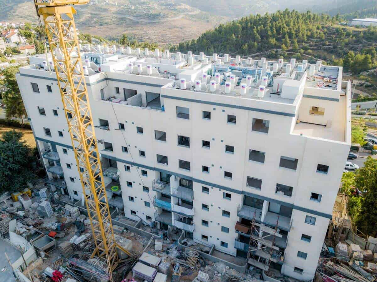 TAMA 38 project in Jerusalem – Dehomey 10 – Construction works