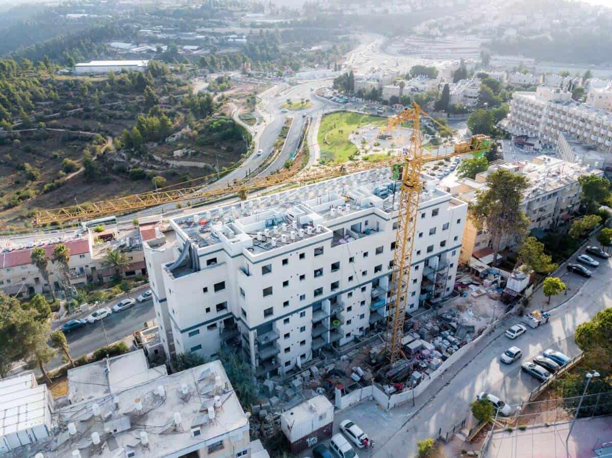 Projet TAMA 38 a Jérusalem – Dehomey 10 – Travaux de construction