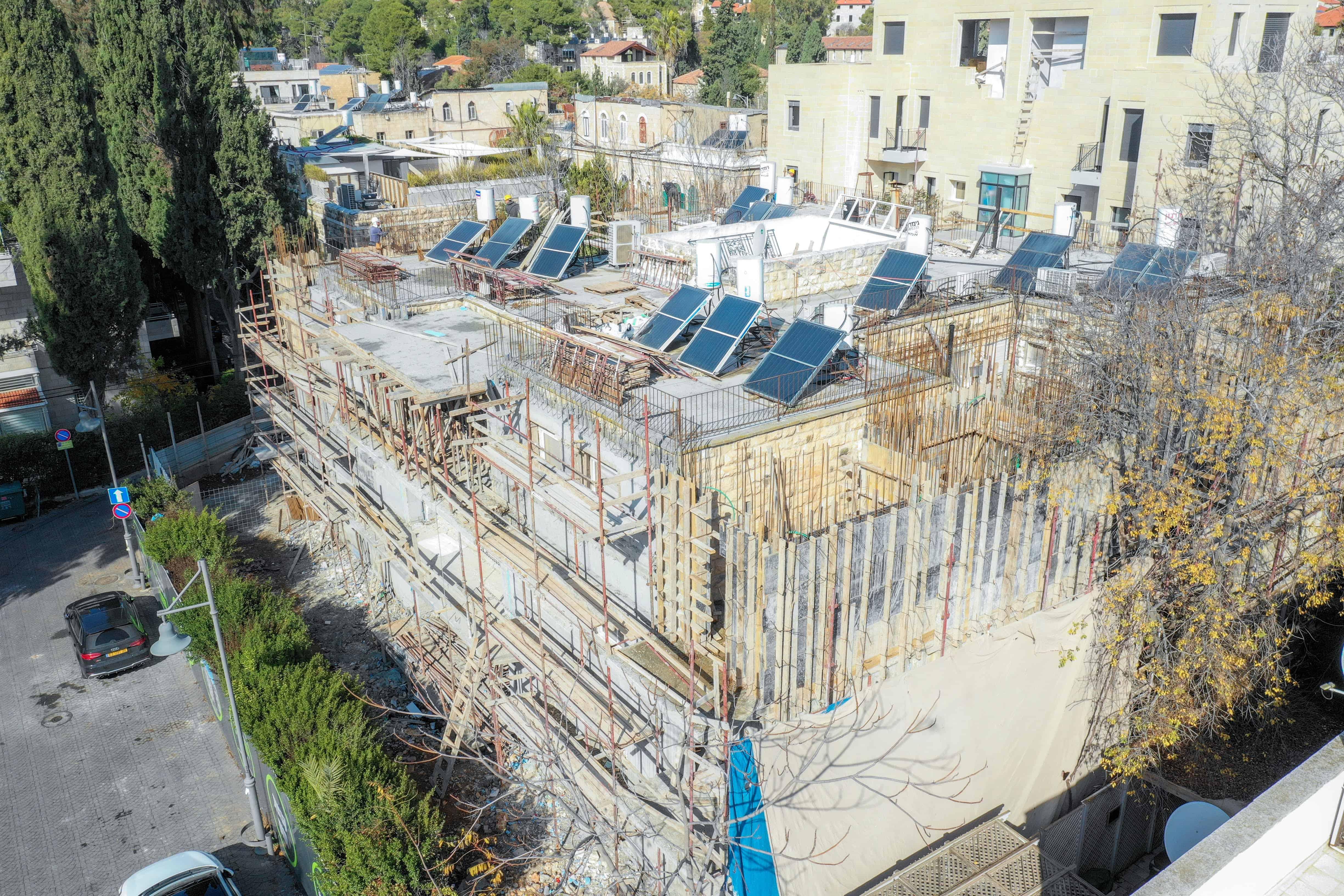 דידס 6 - פרויקט תמ״א 38 בירושלים שלבי בנייה