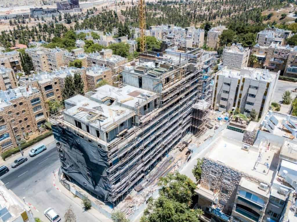 Yam Suf 5 – TAMA 38 project in Jerusalem – construction works