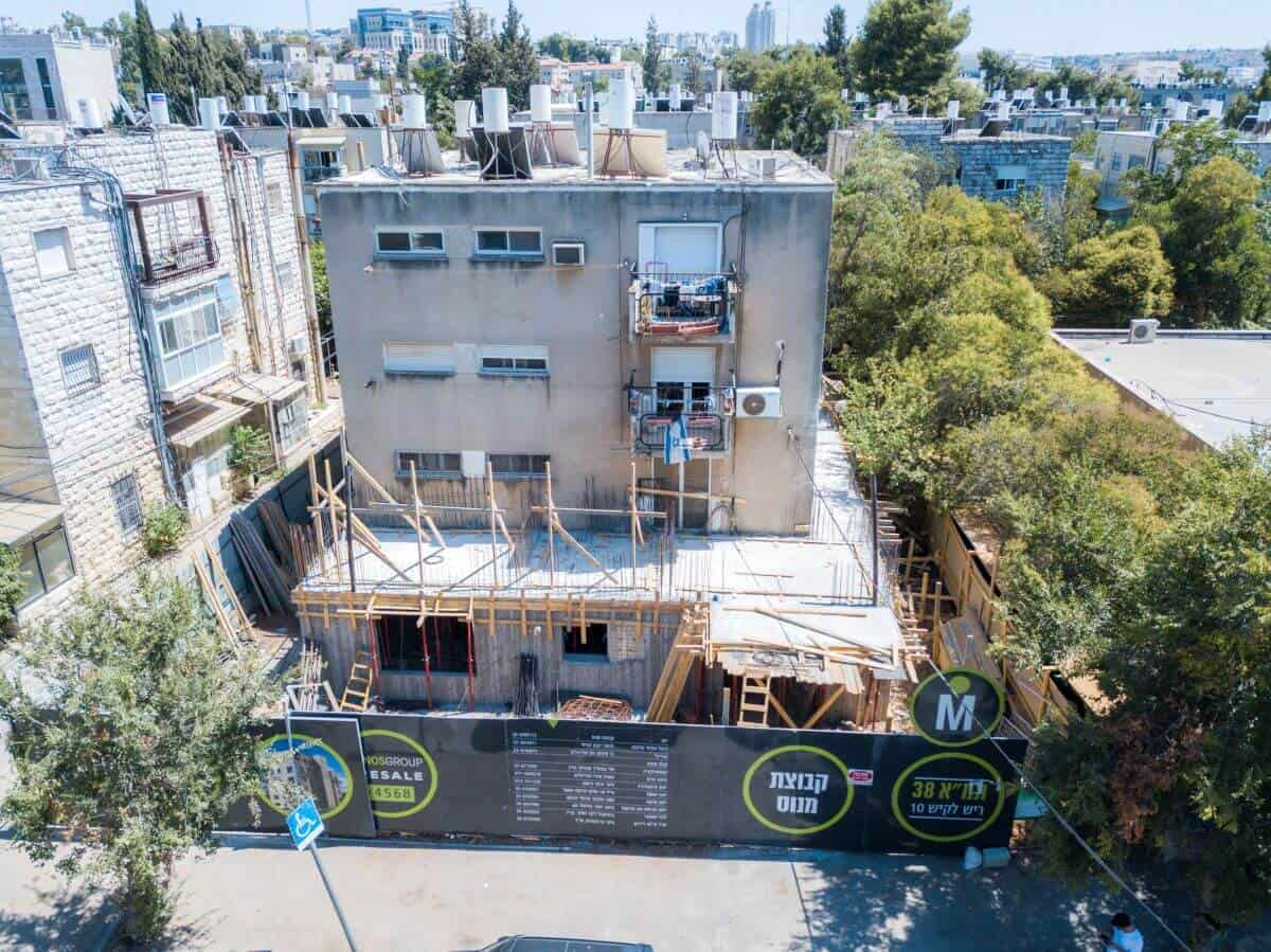 Rish Lakish 10 - TAMA 38 project in Jerusalem - Construction works