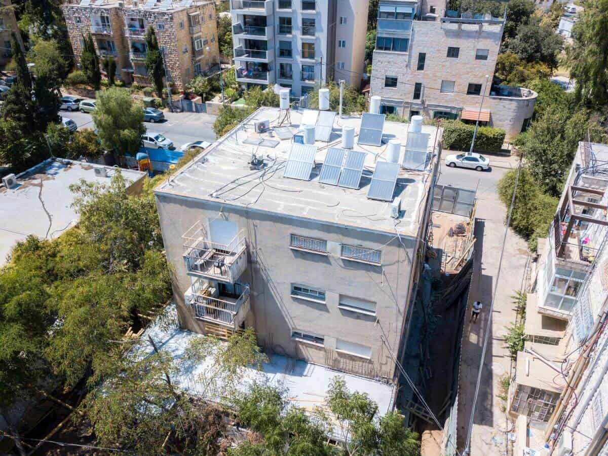 Rish Lakish 10 - TAMA 38 project in Jerusalem - Construction works