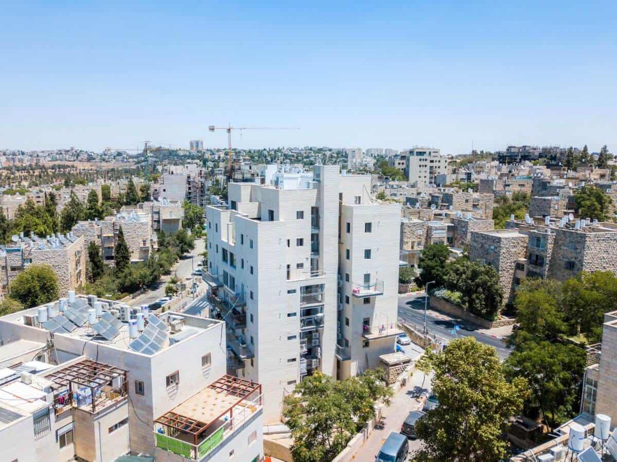 """פרויקט תמ""""א 38 בירושלים - שאול המלך 63 - בשלבי בנייה"""