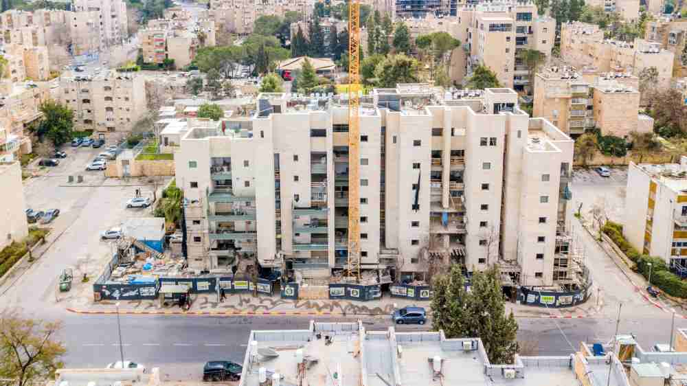 TAMA 38 project in Jerusalem – construction works