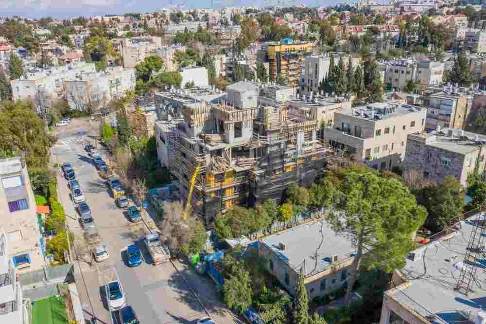 TAMA 38 project in Jerusalem – Rish Lakish 5 – Construction phase
