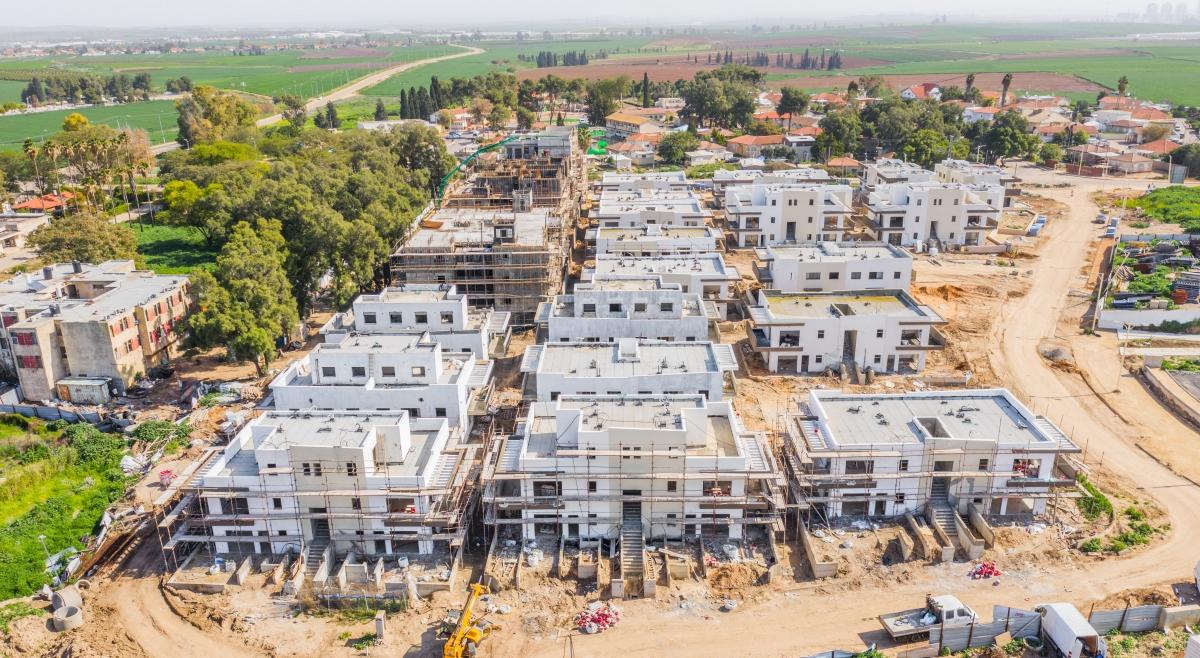 קבוצת רכישה אלומה הירוקה -  התקדמות עבודות בניה