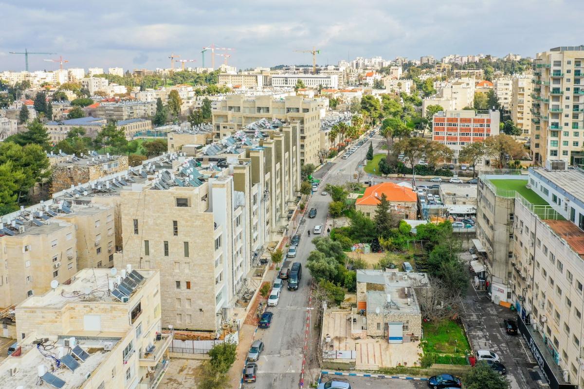 Projet TAMA 38 a Jérusalem – Rivka 22 – Travaux de construction