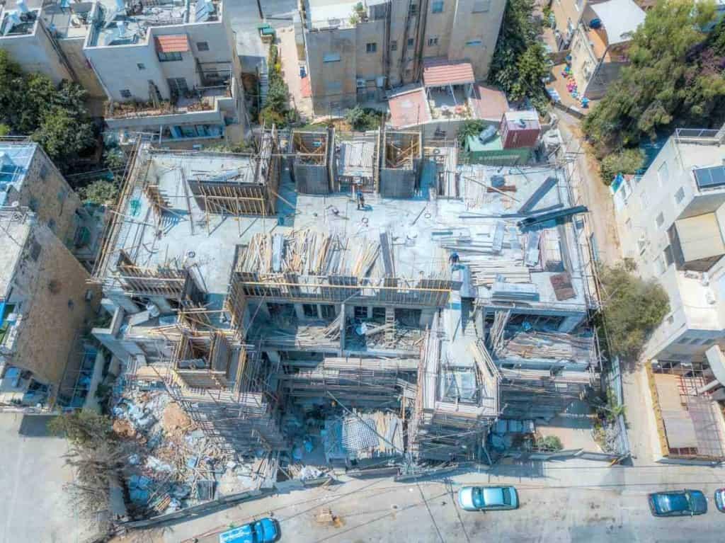 Projet TAMA 38 a Jérusalem – Aba Khilkiya 5 – Travaux de construction