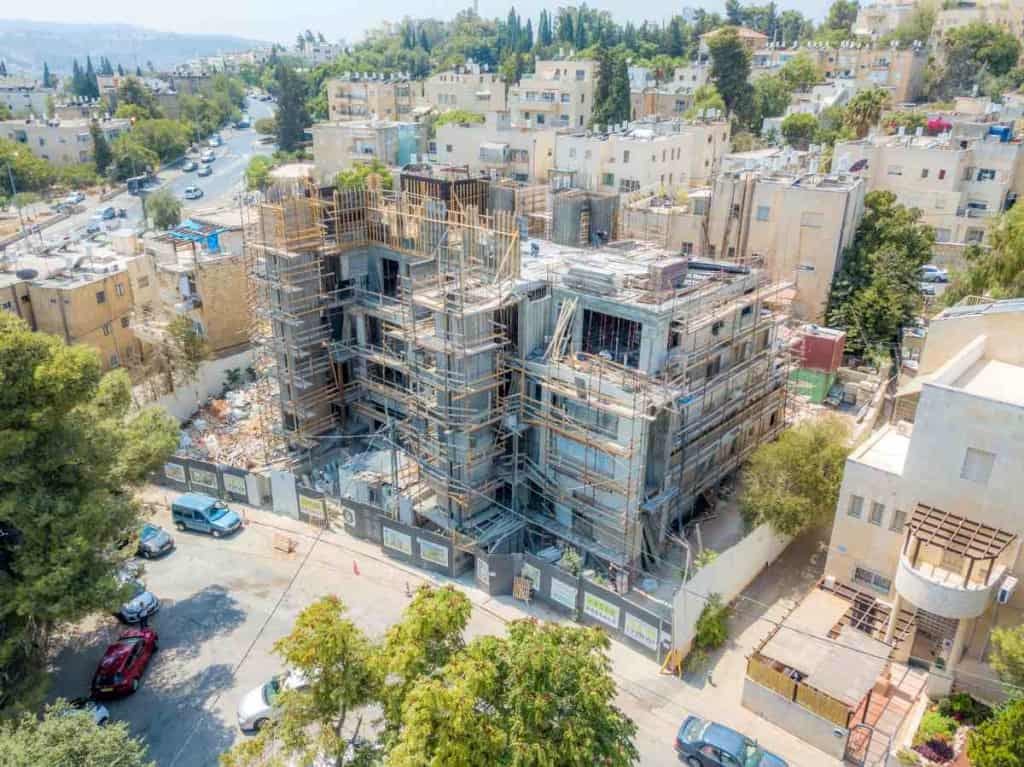 Projet TAMA 38 – Aba Khilkiya 5  a Jérusalem – Travaux de construction