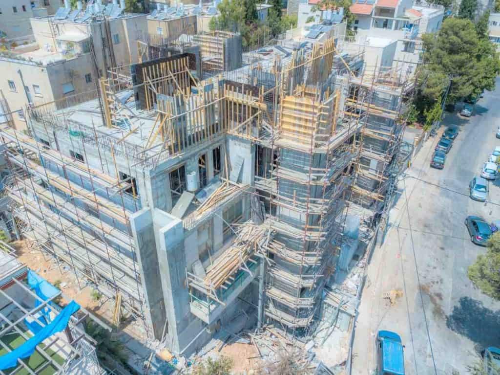 Projet TAMA 38 - Aba Khilkiya 5 a Jérusalem – Travaux de construction