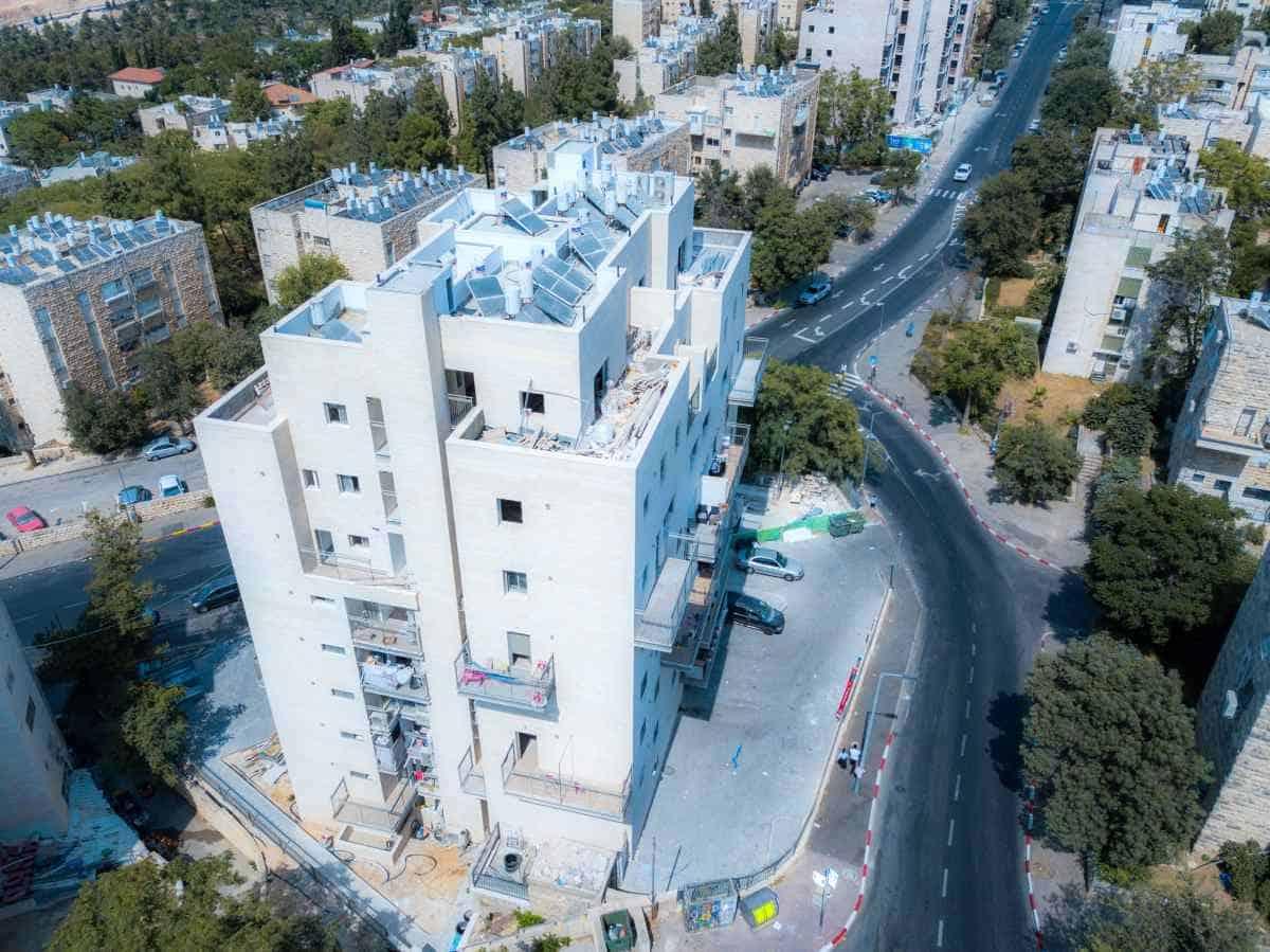 """פרויקט תמ""""א 38 - שאול המלך 63, ירושלים - בשלבי בנייה"""