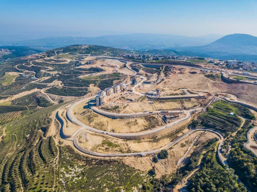 קבוצת רכישה - נצרת עלית - הר יונה הירוקה - צילום אוויר