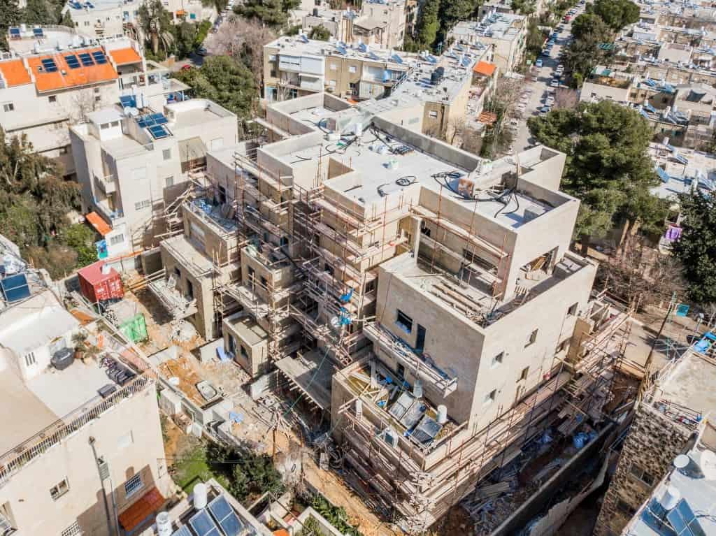 פרויקט תמ״א 38 - אבא חלקיה 5 - שלבי בנייה בירושלים