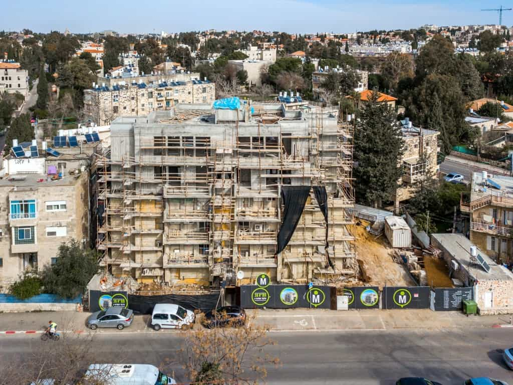 Elazar HaModa'i 4, Jerusalem – Tama 38 project - Construction works