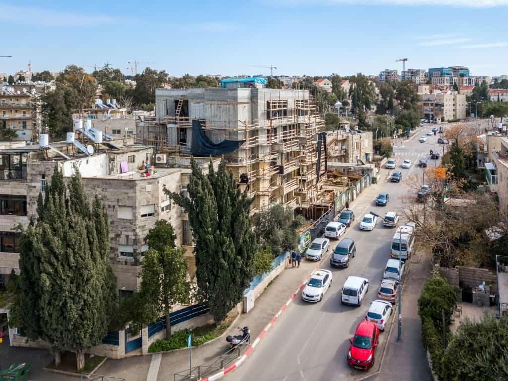 Elazar HaModa'i 4, Jérusalem – Tama 38 projet - Travaux de construction