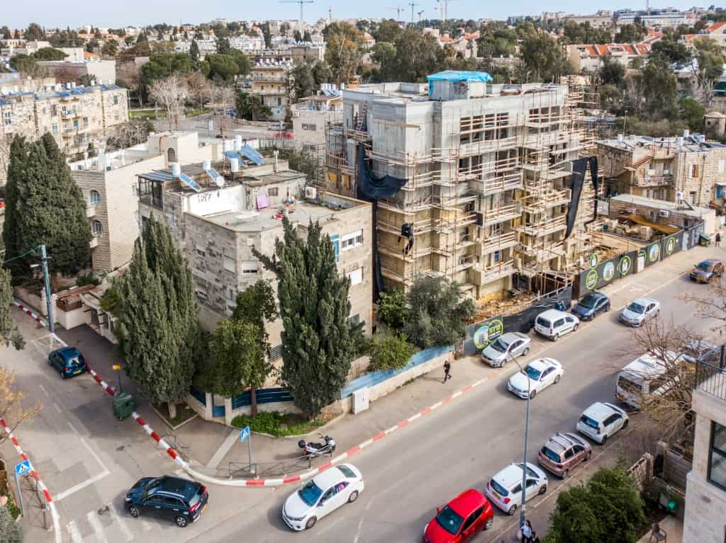 Tama 38 projet  - Elazar HaModa'i 4, Jérusalem - Travaux de construction