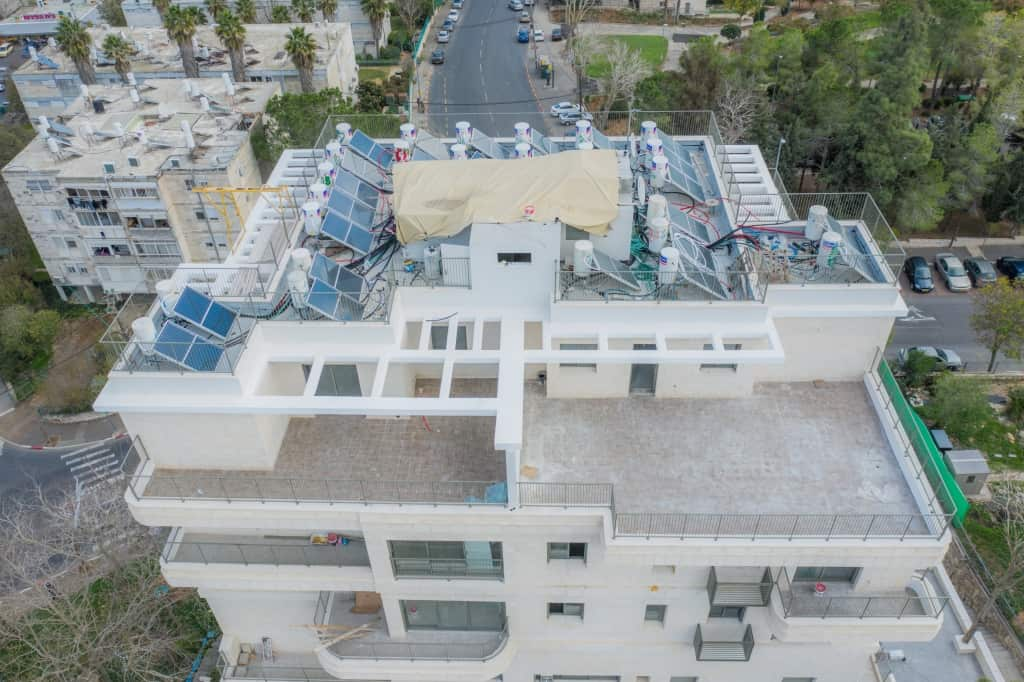 Construction works - TAMA 38 project in Jerusalem – Dehomey 2