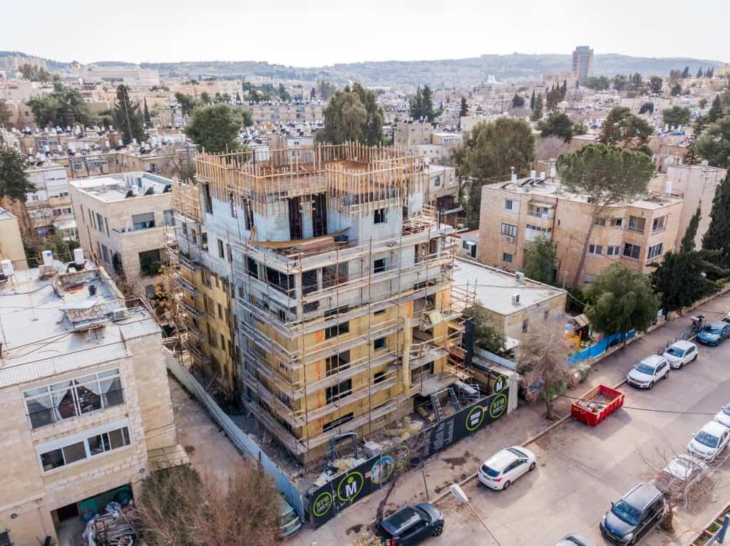 """תמ""""א 38 בירושלים - ריש לקיש 10 - בשלבי עבודה"""
