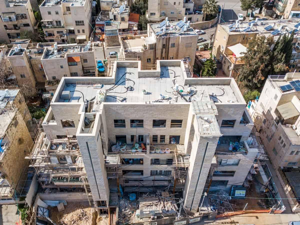 """אבא חלקיה 5 -  פרויקט תמ""""א 38 בירושלים - שלבי בנייה"""