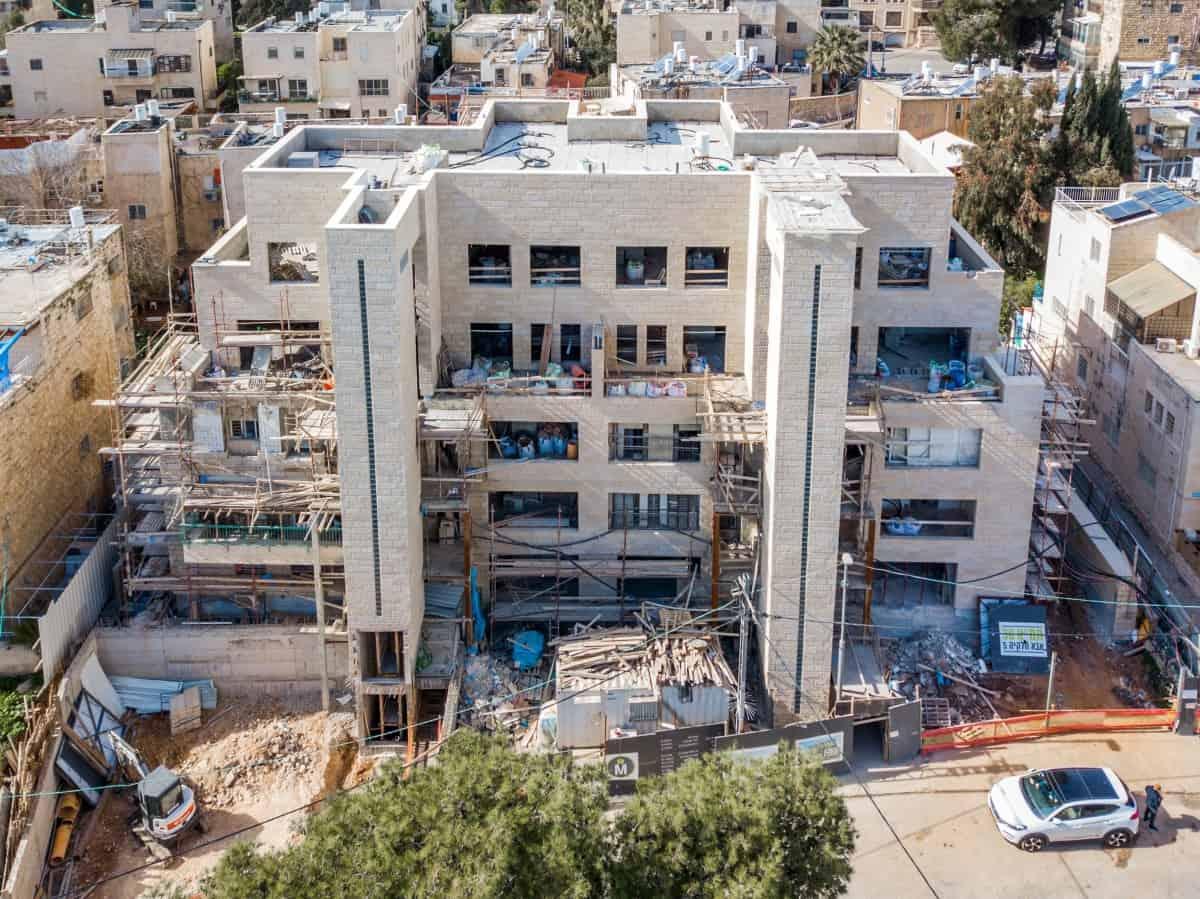 תמ״א 38 בירושלים - אבא חלקיה 5 - שלבי בנייה