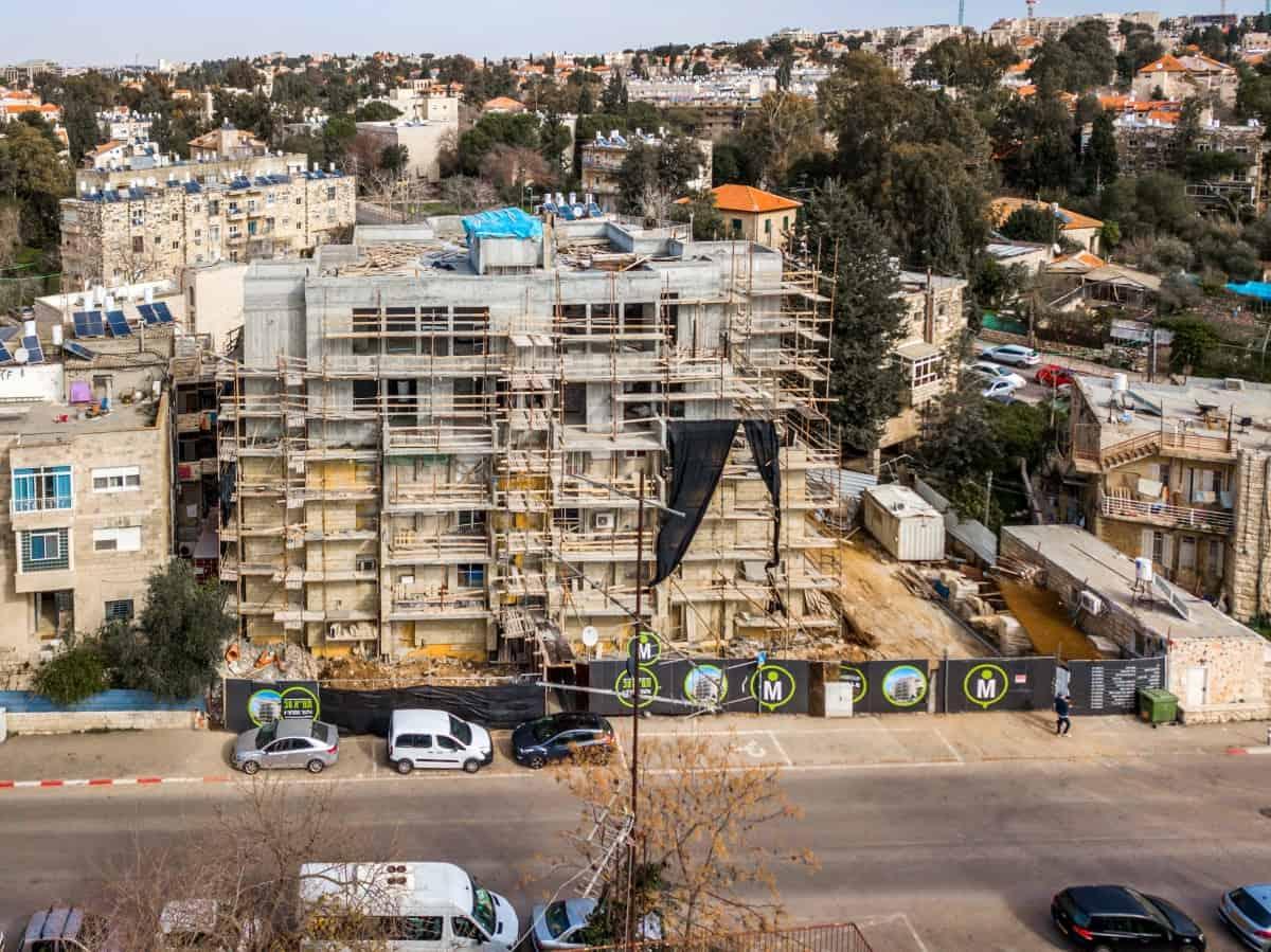 Tama 38 project -  Elazar HaModa'i 4, Jerusalem - Construction works