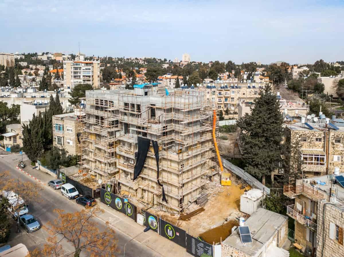 Elazar HaModa'i 4, Jerusalem – Tama 38 - Construction works