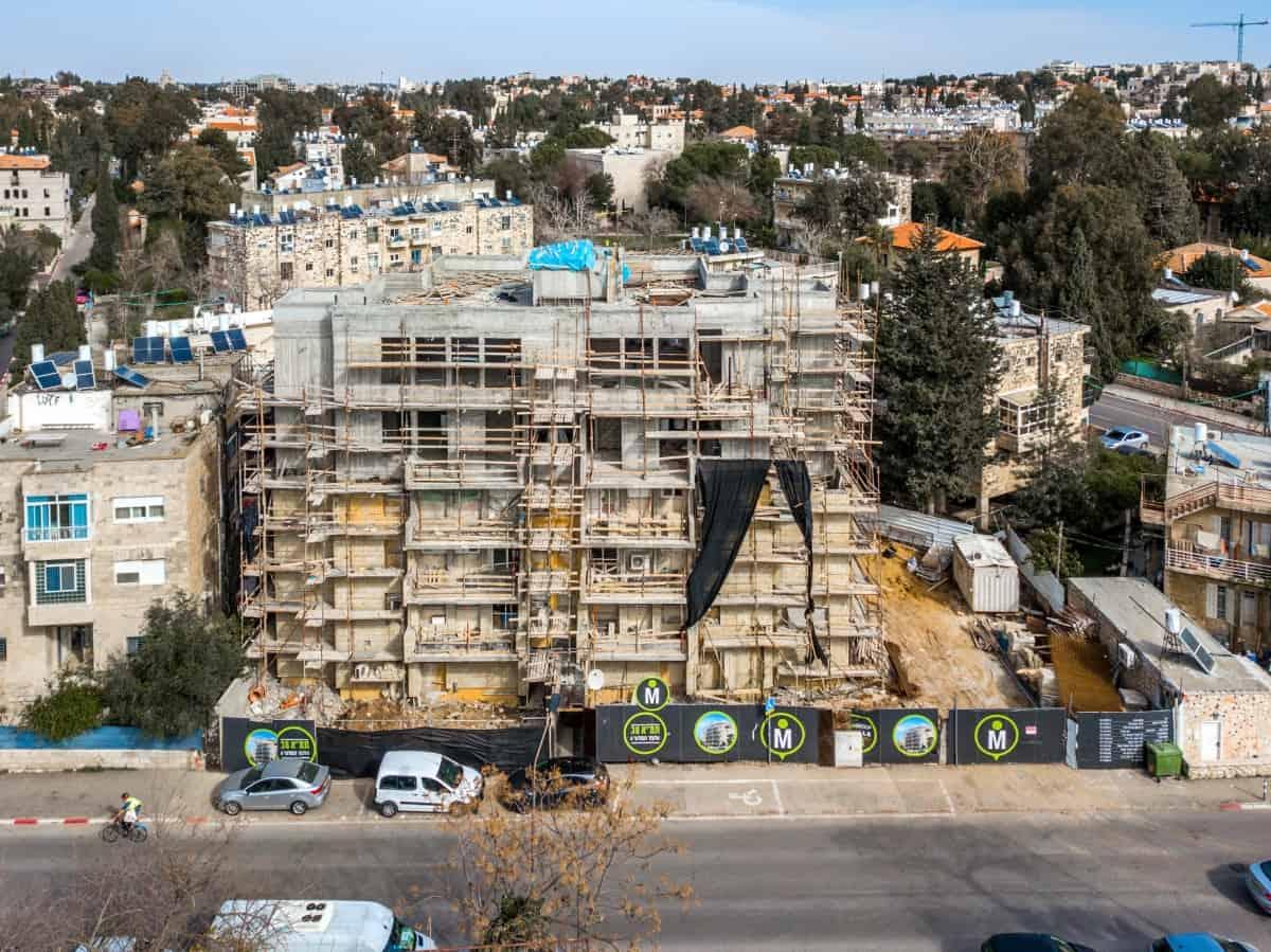 בירושלים פרויקט תמ״א 38  - אלעזר המודעי 4 - שלבי בנייה