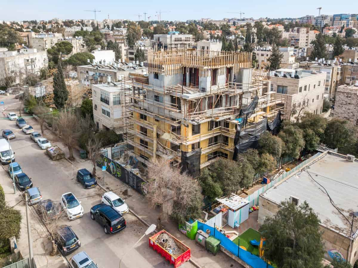 Rish Lakish 10 -  Construction works - TAMA 38 project in Jerusalem